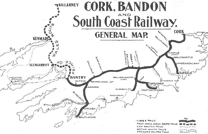 Cork, Bandon and South Coast Railway, Ireland